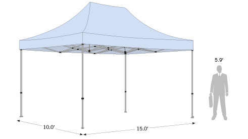 Sketch of tent with dimensions