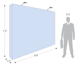 Tradeshow size pop up backdrop with optional lights