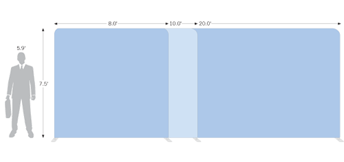 Tension Wall Straight comes in three different sizes