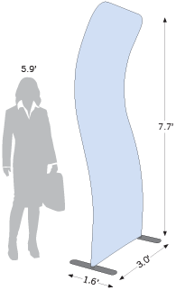 Dimensions of the Arched Tension Fabric Display
